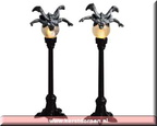 54314-gargoyle lamp post set of 2