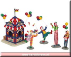 63563-carnival ticket booth with figurines set of 5