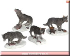 62266-wolf pack set of 4
