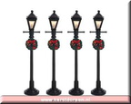 64498-gas lantern street lamp set of 4 bo