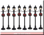 64500-gas lantern street lamp set of 8 bo