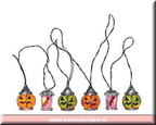 64440-6 lighted spooky lantern