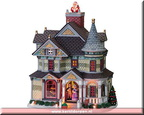 75608-christmas eve manor animated - musical - exterior lit