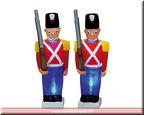 74627-lighted soldeer  set of 2 . b.o  3 v