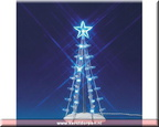 74658-lighted silhouette tree  blue medium b.o. 3 v