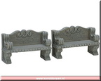 74612-stone bench set of 2