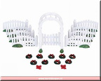 04233-plastic arbor and picket fences with decorations set of 20