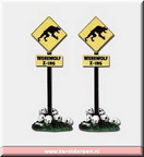 04179-werewolf crossing sign  set of 2