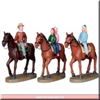 03833-horseback family set of 3