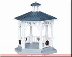 04160-plastic gazebo with decorations set of 6