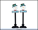 34640-snowman street lamp set of 2b.o.