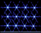 34659-12 lighted star string-blue b.o.