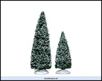34665-snowy juniper tree set of 2 6 and 4