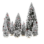 608.318-evergreen tree  set of 9