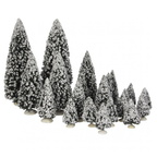 609.158-evergreen trees  set of 21