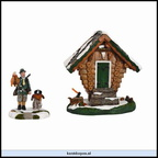 610.035-birdhouse shed  set of 2