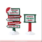 74325-north pole signs set of 2