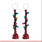 74229-red globe street light set of 2