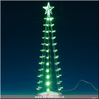 84399-lighted silhouette tree green