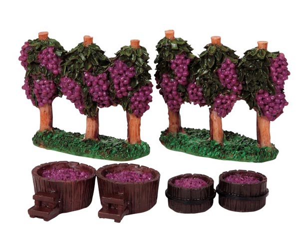 84855-grapesvines-buckets  set of 6