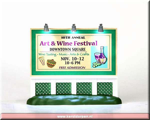 94026-art and wine festival billboard